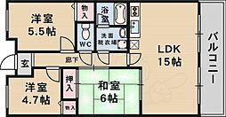 北大阪急行電鉄 桃山台駅 徒歩12分の賃貸マンション 1階3LDKの間取り