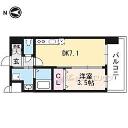 (仮称)アンフィニXVIIマローネ 6階1DKの間取り