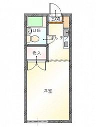 セゾン京山[1階]の間取り
