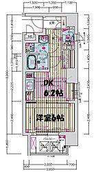 プレサンス梅田北アロー[9階]の間取り
