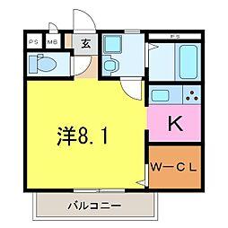 仮)井ヶ谷町1K共同住宅[203号室]の間取り
