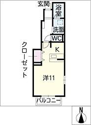 セレーノきよ[1階]の間取り