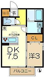 仮)D-room中里1丁目[1階]の間取り