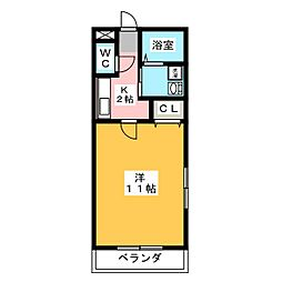 ルナハイムN[2階]の間取り