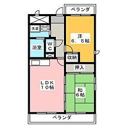 ハイツアミュー[3階]の間取り
