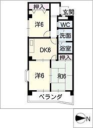 第2エトワール[3階]の間取り