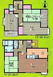 [一戸建] 神奈川県横浜市戸塚区吉田町 の賃貸【/】の間取り