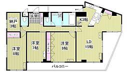 オンズハウス 4階3SLDKの間取り