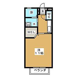 アトリオ市ヶ坂[2階]の間取り
