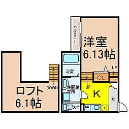 Creo庄内通六番館(クレショウナイドオリロクバンカン)[1階]の間取り