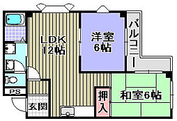 メゾン藤田[102号室]の間取り