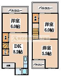 [一戸建] 大阪府堺市東区日置荘西町2丁 の賃貸【/】の間取り