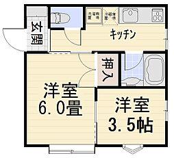ハイツ翔[17号室号室]の間取り