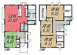[一戸建] 千葉県印西市東の原2丁目 の賃貸【千葉県 / 印西市】の間取り