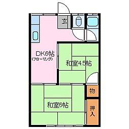 高砂荘[1階]の間取り