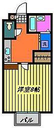 パセオ鈴木[201号室]の間取り