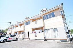 群馬県高崎市中里町の賃貸アパートの外観