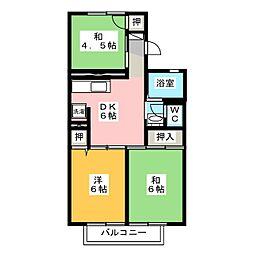 メゾンヤマショー[2階]の間取り