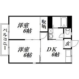 静岡県浜松市中区高丘西2丁目の賃貸アパートの間取り
