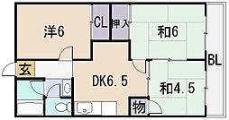 桜ヶ丘レジデンス[3階]の間取り