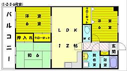 秋山マンション[3階]の間取り