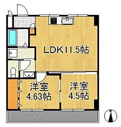 倉敷富井フォートレス[4階]の間取り