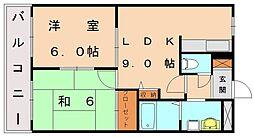 福岡県宗像市陵厳寺3丁目の賃貸マンションの間取り