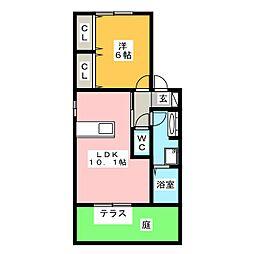 メゾン・グラシア[1階]の間取り