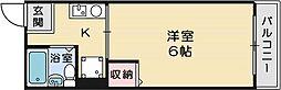 コモ・ラルジュ[1階]の間取り