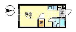 ドミトリー木田パート3[3号室]の間取り