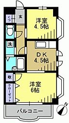 ホワイトホルン[3階]の間取り
