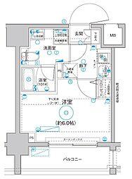 Le'a MARKS横濱 9階1Kの間取り