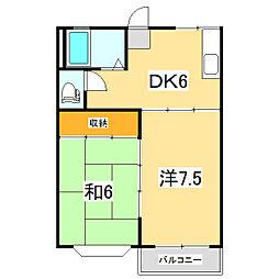 メゾンラフォーレ[2階]の間取り