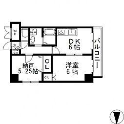 HERITAGE高井田(ヘリテイジ)[3階]の間取り