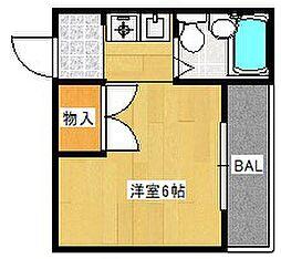 大阪府高槻市赤大路町の賃貸アパートの間取り