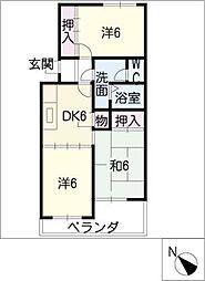 ホワイトピア江島台[2階]の間取り