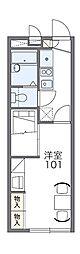 レオパレスドミール横田II[1階]の間取り