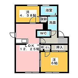 ソレーユ21 C[1階]の間取り