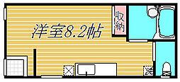 東京都目黒区中目黒1丁目の賃貸アパートの間取り