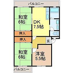 アムールONE[2階]の間取り