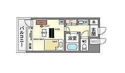 家具・家電付きピュアドームサクセス平尾 B[9階]の間取り