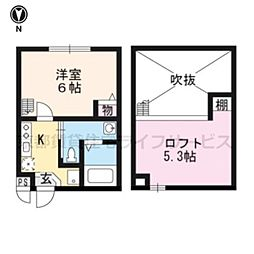 サンリッチ京都駅II[202号室]の間取り