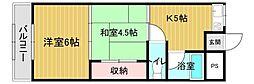 大阪府大阪市城東区諏訪4丁目の賃貸マンションの間取り