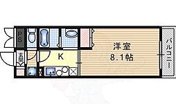 阪急千里線 関大前駅 徒歩20分の賃貸マンション 1階1Kの間取り