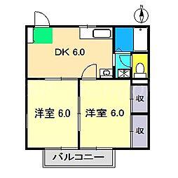 エル橋田[2階]の間取り