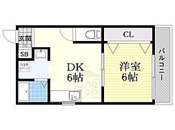 玄関堂マンション[3階]の間取り