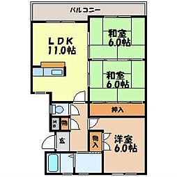 さくらマンション[3-F号室]の間取り