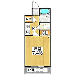 JUNO雅[209号室]の間取り