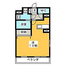 大島マンション2[1階]の間取り