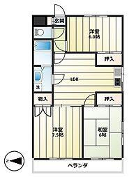 羽田第二ビル[3階]の間取り